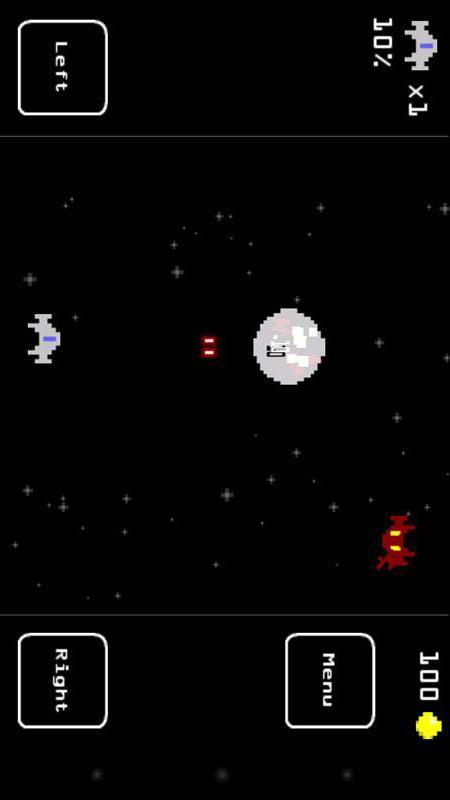 游戏背景为太空,你必须干掉各种敌人同时保证自己
