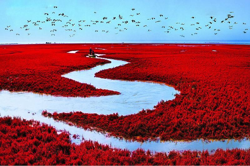 壁纸风景山水红色