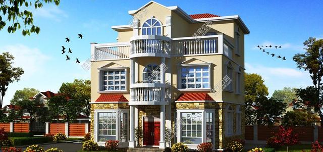 设计图分享 农村盖房子2层设计图  农村房子设计图两层带地下室三大间