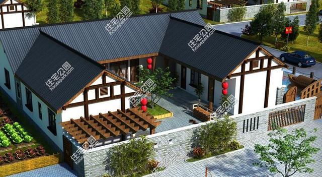 农村长五间平房设计图-5套带小院自建平房户型,不用请设计师,照图