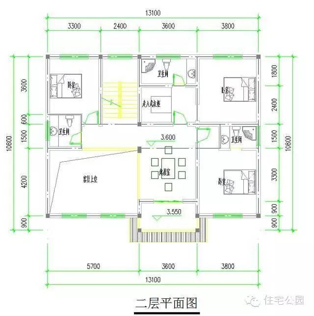 7x13米农村建房图纸