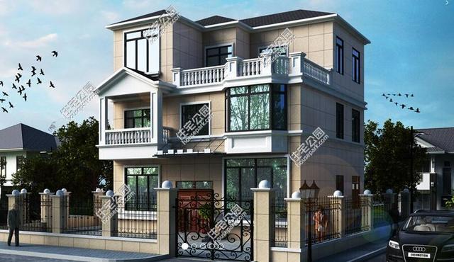 三间房子设计图别墅-宅基地小 这5套自建房占地都不大,挑一套适合自