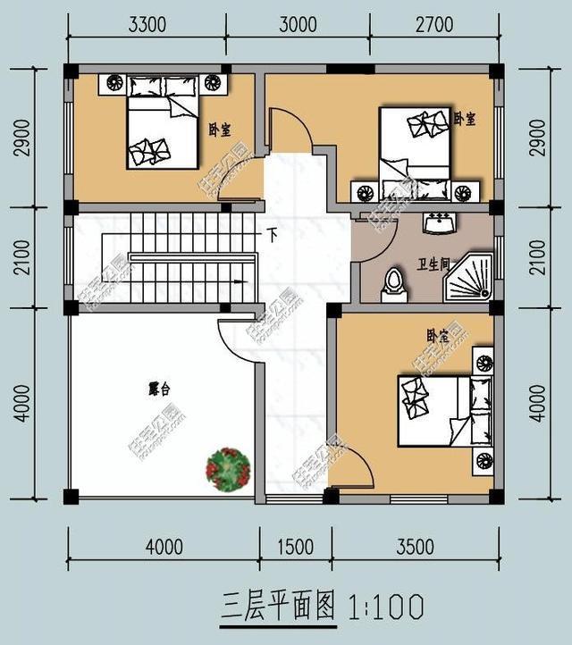 9米宽自建房设计图纸-自建房建筑设计图纸|自建房设计图纸|90平方自