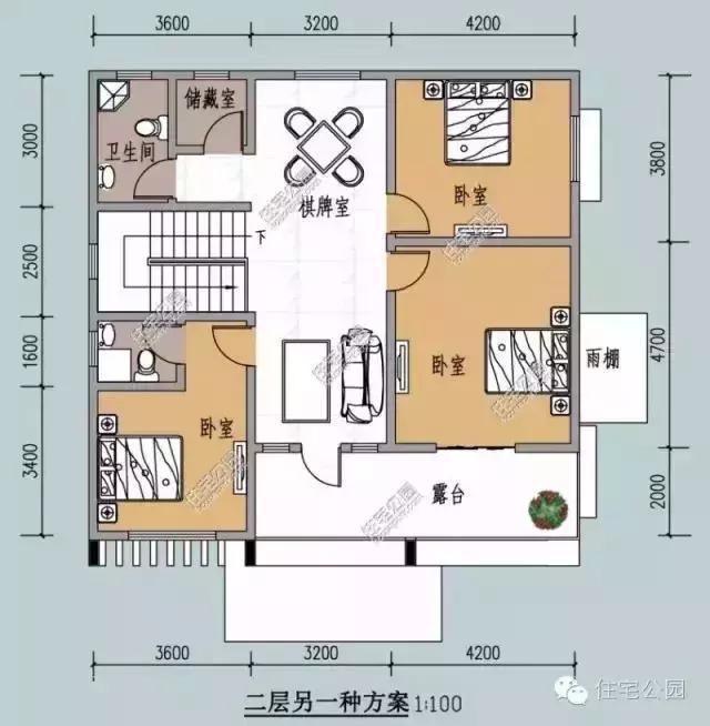 7.5米x10米农村自建房-农村徽派小别墅设计图/7.5米米