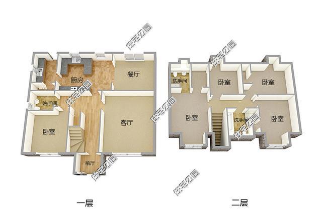 今天就给大家分享6套一层半自建房,4间卧室的设计适合你吗?