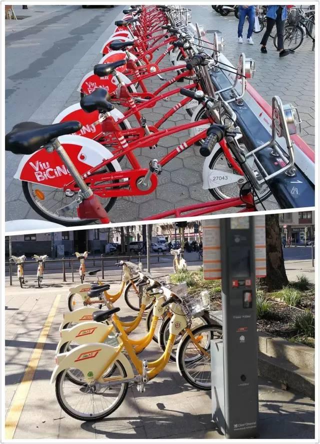 """(西班牙、意大利的""""共享单车"""")"""