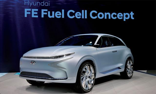 例如,韩国现代汽车发布了将于今年上市的新型氢燃料电池概念车fe