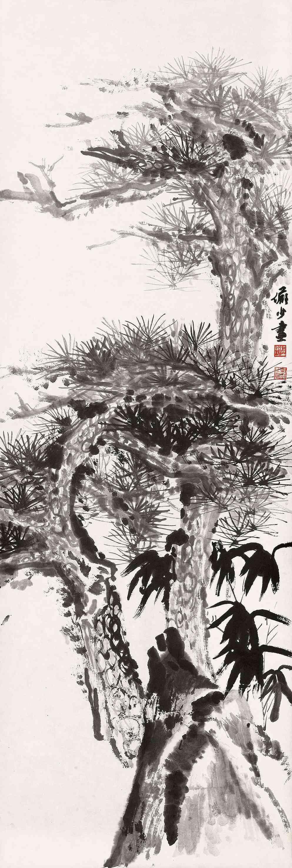 松树简笔画素描