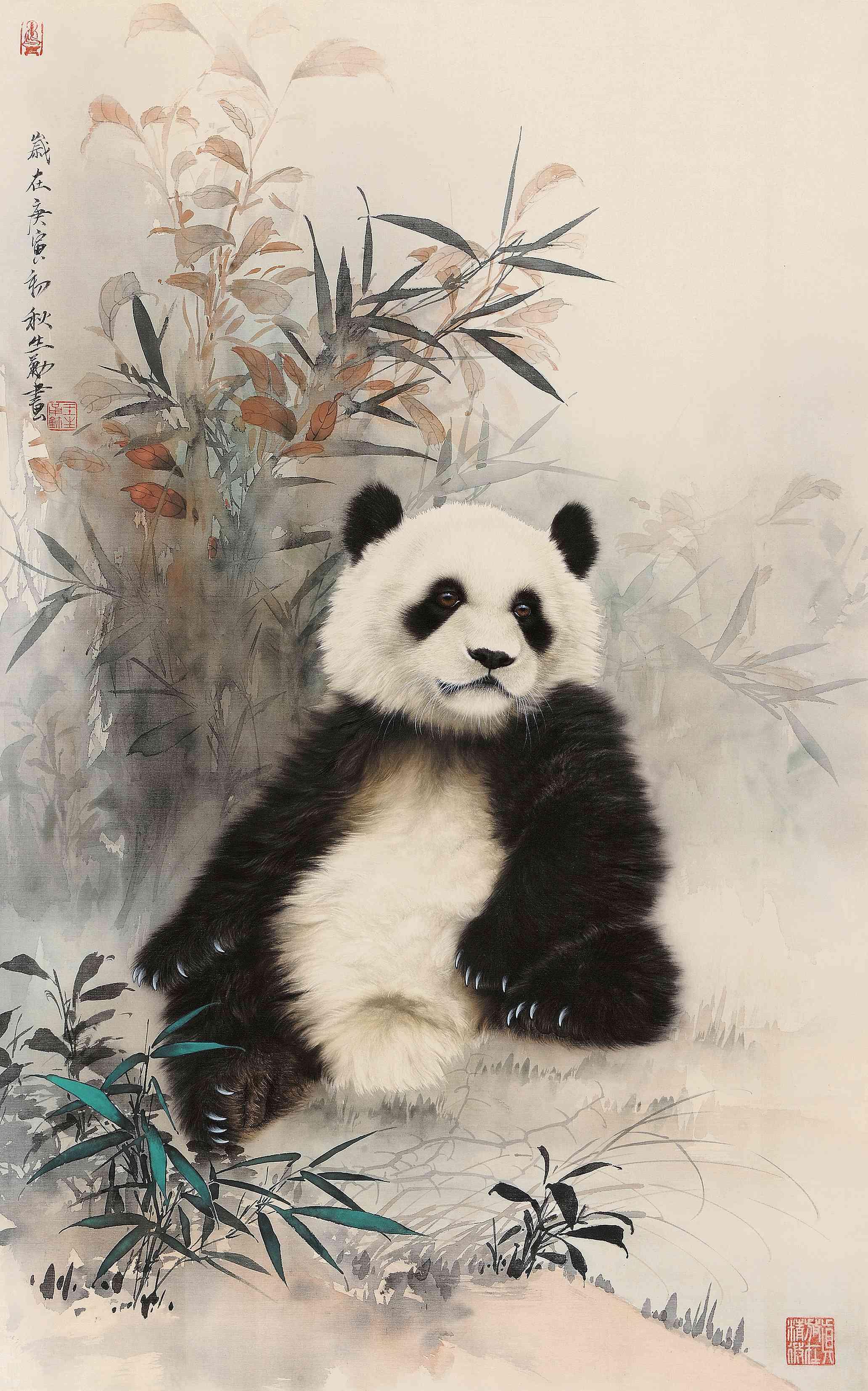 熊猫_熊猫图片,鉴赏,作品_新浪美术馆_新浪网