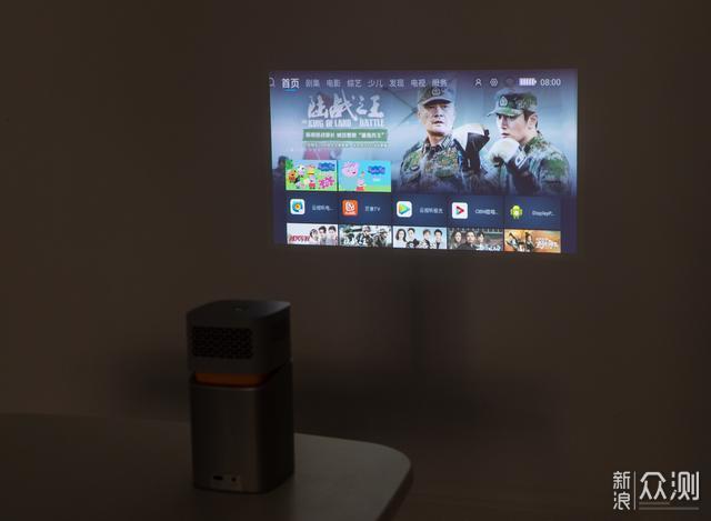 放在包里的随身小影院,明基GV1智能投影开箱_新浪众测