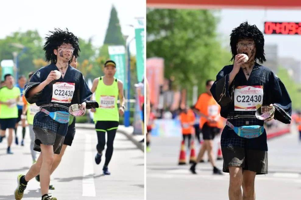 #不负春光#乞丐造型跑马拉松是种怎样的体验?