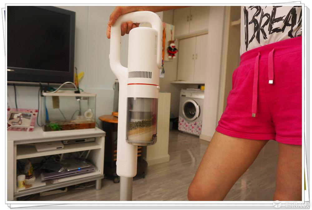让宝宝爱上做家务---睿米手持无线吸尘器F8_新浪众测