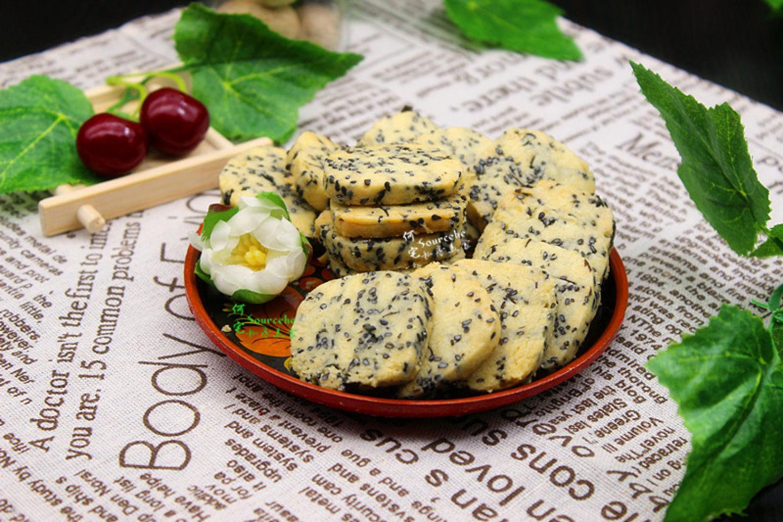 黑芝麻海苔饼,没放一粒糖,咸香酥脆,更健康