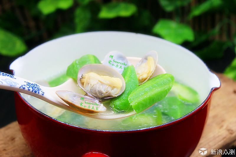 夏天最的丝瓜花蛤汤,10块钱就能煮一大锅_新浪众测