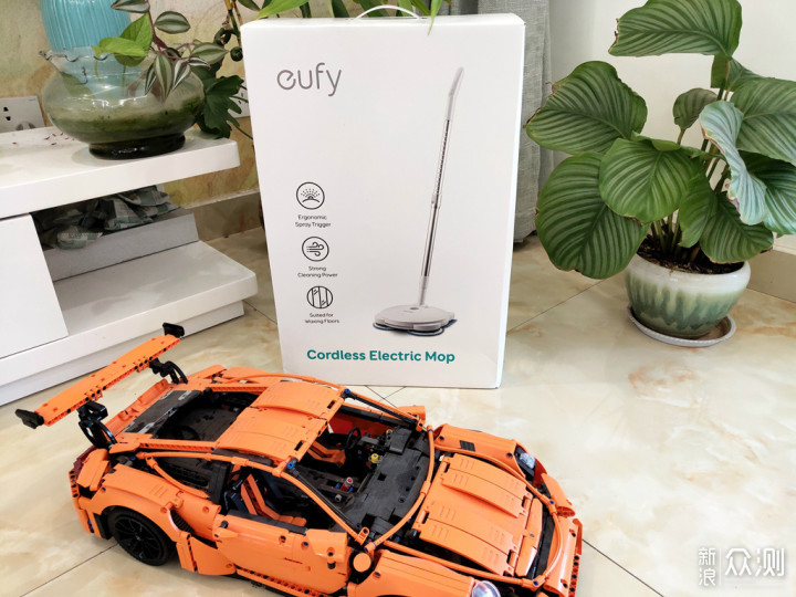 是工具不是玩具,eufy小旋风电动拖把简单体验_新浪众测