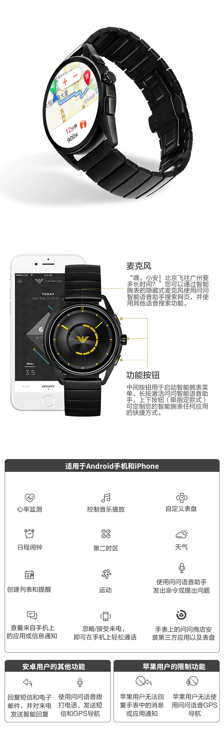 阿玛尼第四代智能触屏腕表免费试用,评测