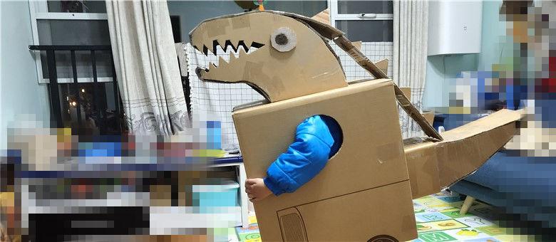 纸箱手工制作大全 龙