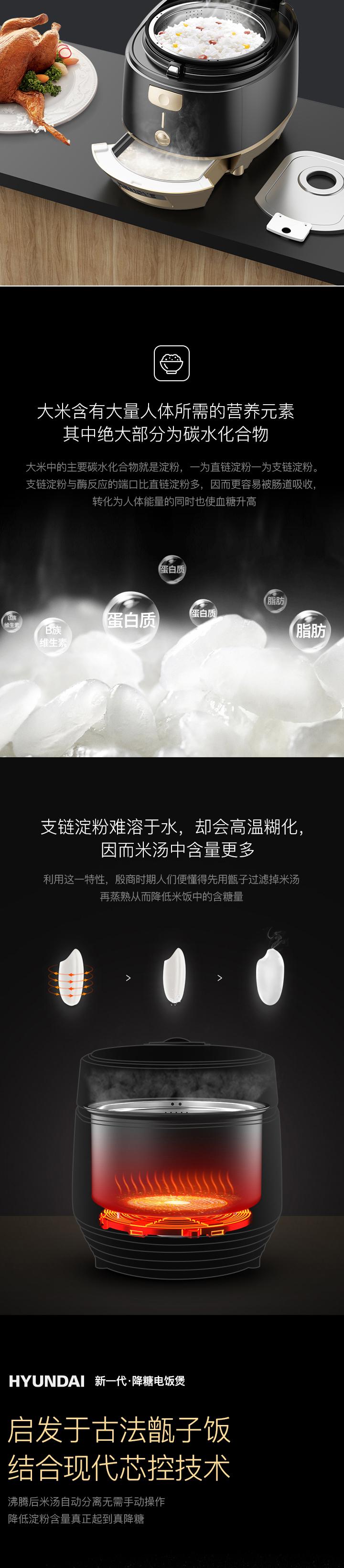 现代IH降糖电饭煲免费试用,评测