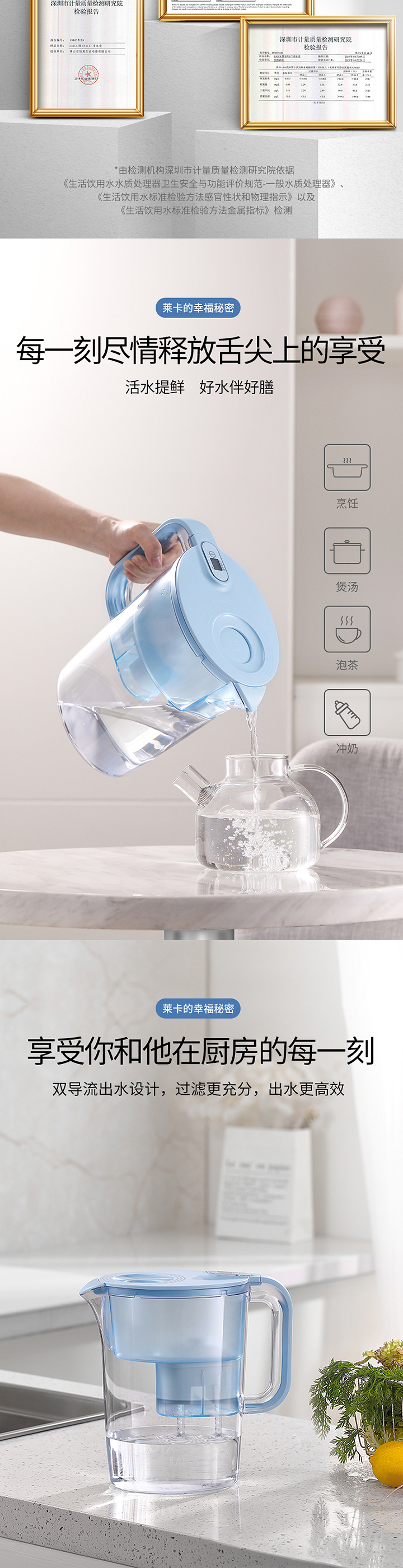 【轻体验】LAICA莱卡净水壶免费试用,评测