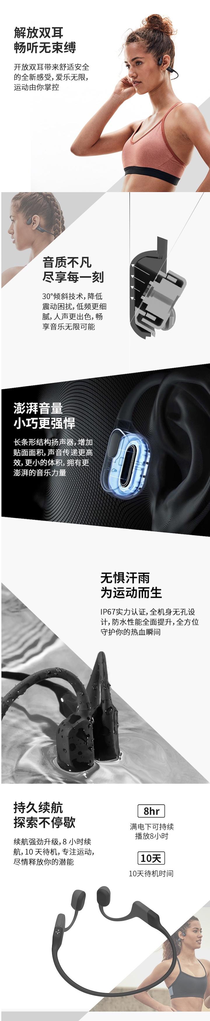 韶音Aeropex骨传导蓝牙耳机免费试用,评测
