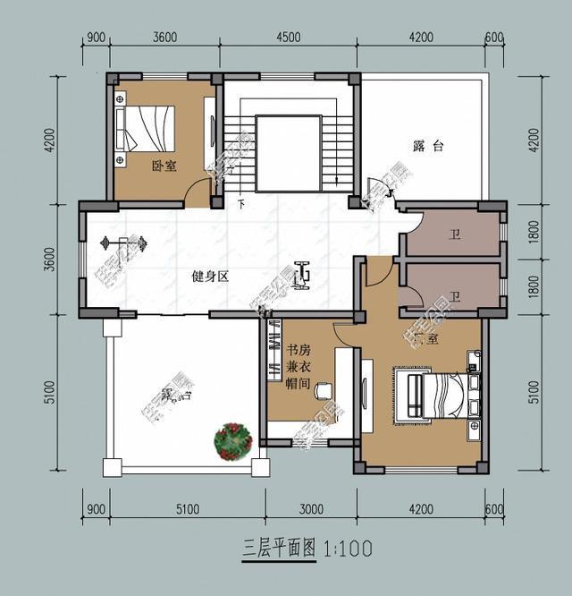 14x14米帶堂屋自建房,這樣設計正適合農村!含圖紙